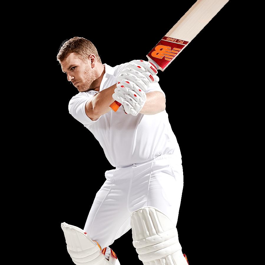Player using New Balance Cricket Bat