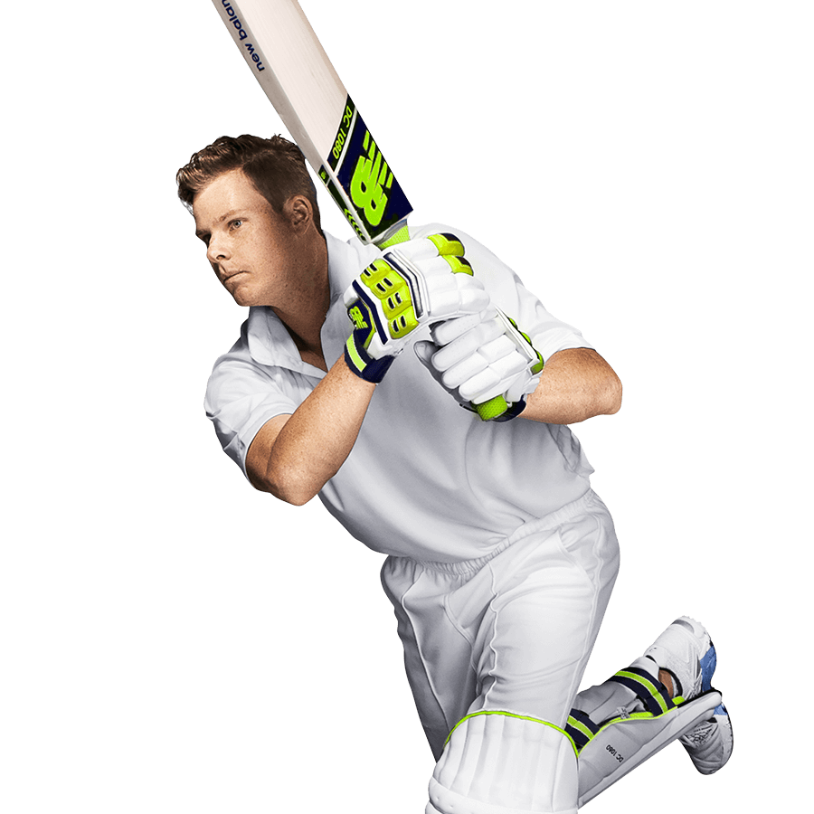 Player using New Balance Cricket Bat